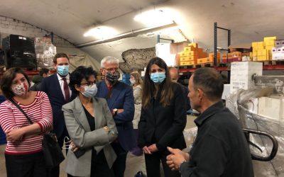 Visite des tunnels Baron-Le-Roy avec Rachida Dati